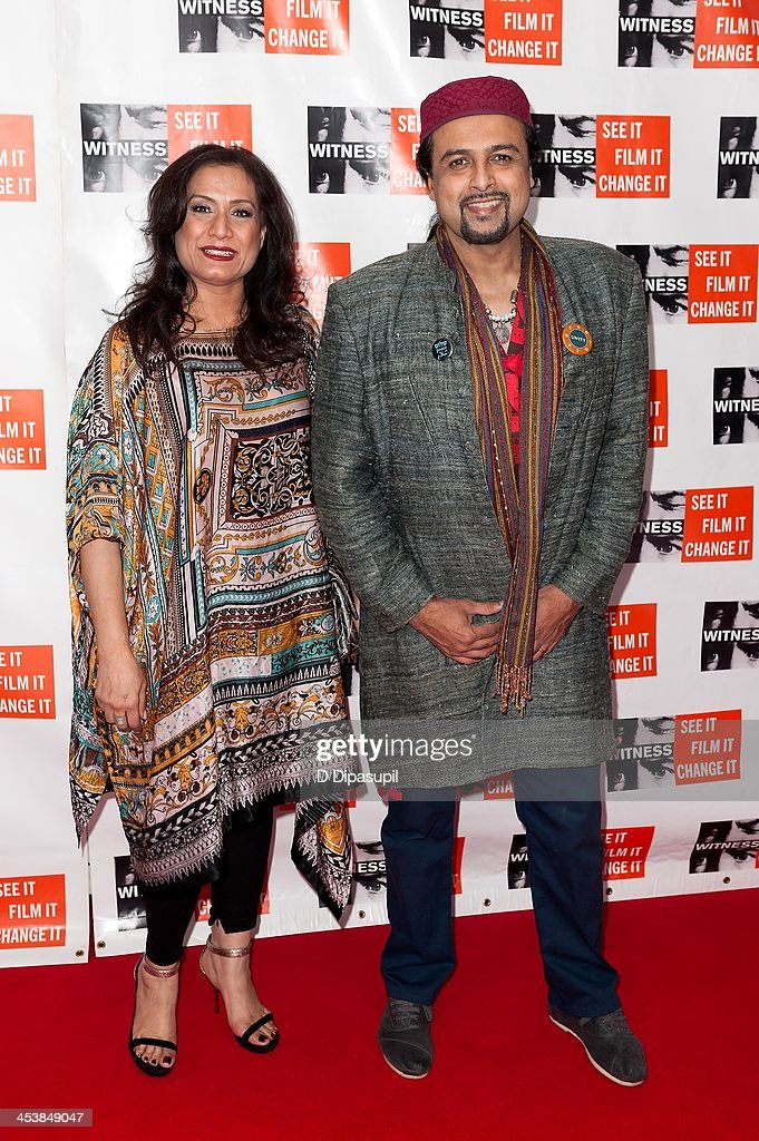 Samina Ahmed (L) and Salman Ahmed attend the 2013 Focus For Change gala benefiting WITNESS at Roseland Ballroom on December 5, 2013 in New York City.
