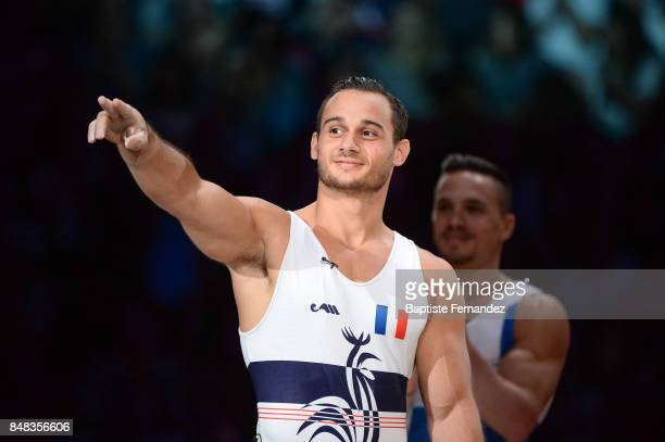 Samir Ait Said of France during the FIG World Cup Challenge 'Internationaux de France' at AccorHotels Arena on September 17 2017 in Paris France