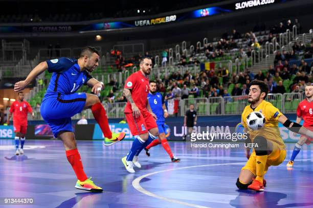 Samir Alla of France in action during the UEFA Futsal EURO 2018 group D  match between f864253ddbf30