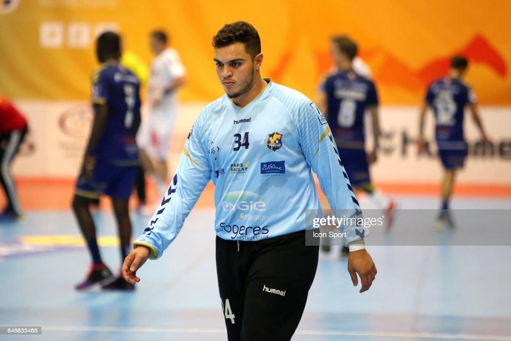 Samir Bellahcene of Massy during Lidl Star Ligue match between Massy Essonne Handball and HBC Nantes on September 13, 2017 in Massy, France.