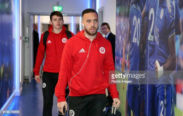 Samir Carruthers of Sheffield United arrives at King Power Stadium ahead of the FA Cup fifth round match between Leicester City and Sheffield United...