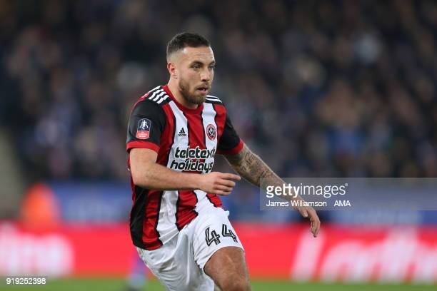 Samir Carruthers of Sheffield Unitedduring the Emirates FA Cup Fifth Round match between Leicester City and Sheffield United at The King Power...