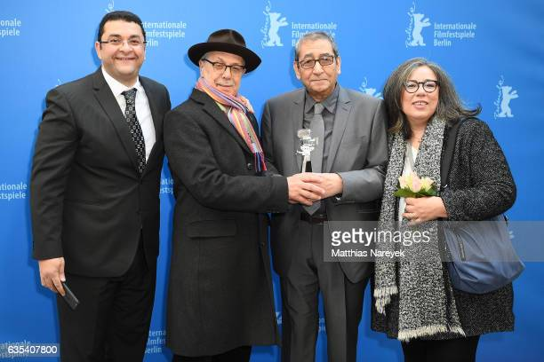 Samir Farid is awarded by Dieter Kosslick with the 'Berlinale Camera' award during the 67th Berlinale International Film Festival Berlin at Grand...