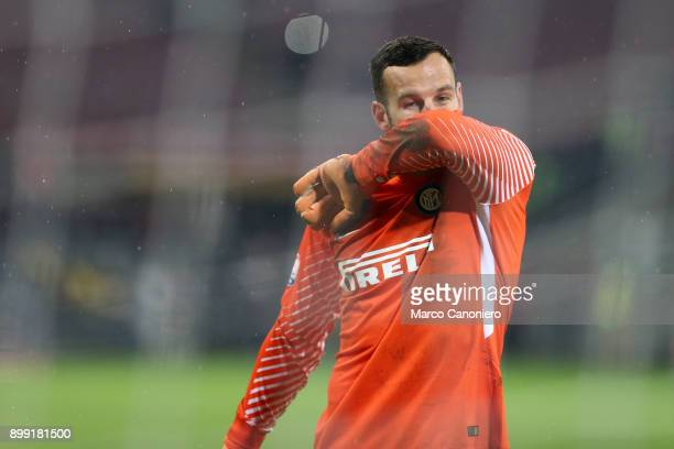 Samir Handanovic of FC Internazionale despair after Milan's goal during the Tim Cup football match between Ac Milan and Fc Internazionale Ac Milan...