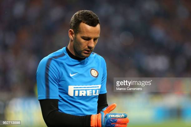 Samir Handanovic of FC Internazionale during the Serie A match between FC Internazionale and Juventus Fc Juventus Fc wins 32 over Fc Internazionale