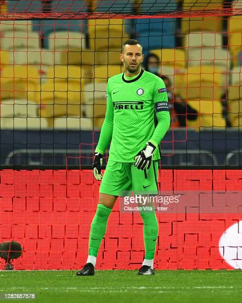 Samir Handanovic of FC Internazionale in action during the UEFA Champions League Group B stage match between Shakhtar Donetsk and FC Internazionale...