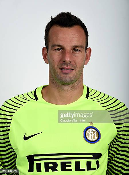 Samir Handanovic of FC Internazionale poses during the official portrait session at Appiano Gentile on August 16 2016 in Como Italy