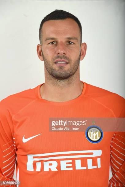 Samir Handanovic of FC Internazionale poses on July 7 2017 in Reischach near Bruneck Italy
