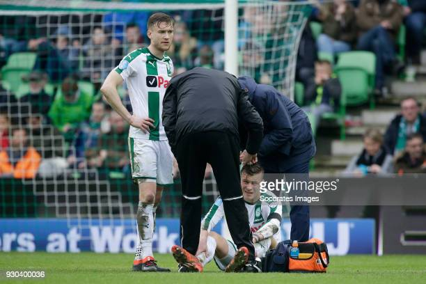 Samir Memisevic of FC Groningen during the Dutch Eredivisie match between FC Groningen v PEC Zwolle at the NoordLease Stadium on March 11 2018 in...