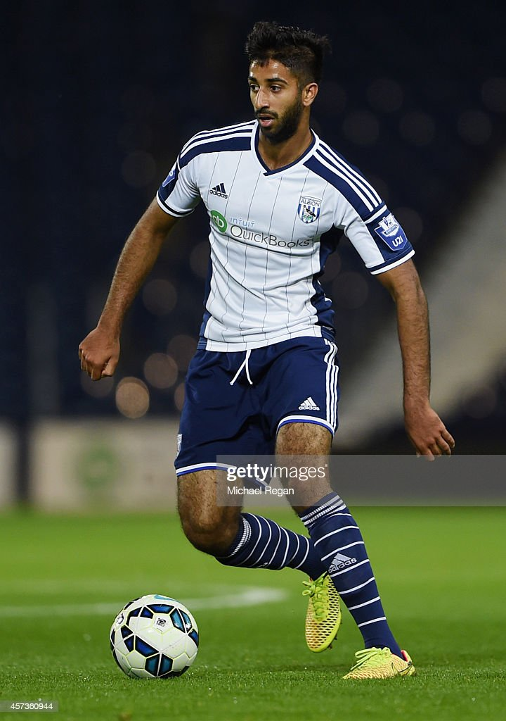 Samir Nabi of West Brom in action during the Barclays U21 Premier League match between West Bromwich Albion and Manchester United at The Hawthorns on October 16, 2014 in West Bromwich, England.