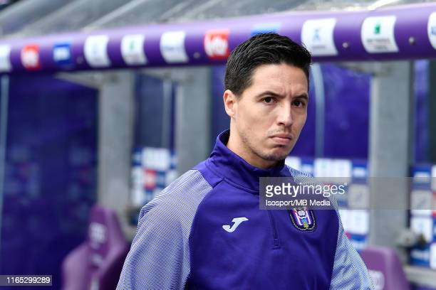 Samir Nasri of Anderlecht during the Jupiler Pro League match between RSC Anderlecht and KV Oostende at Lotto Park on July 28, 2019 in Brussels,...