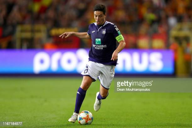 Samir Nasri of Anderlecht in action during the Jupiler Pro League match between RSCA or Royal Sporting Club Anderlecht and KV Mechelen at Constant...