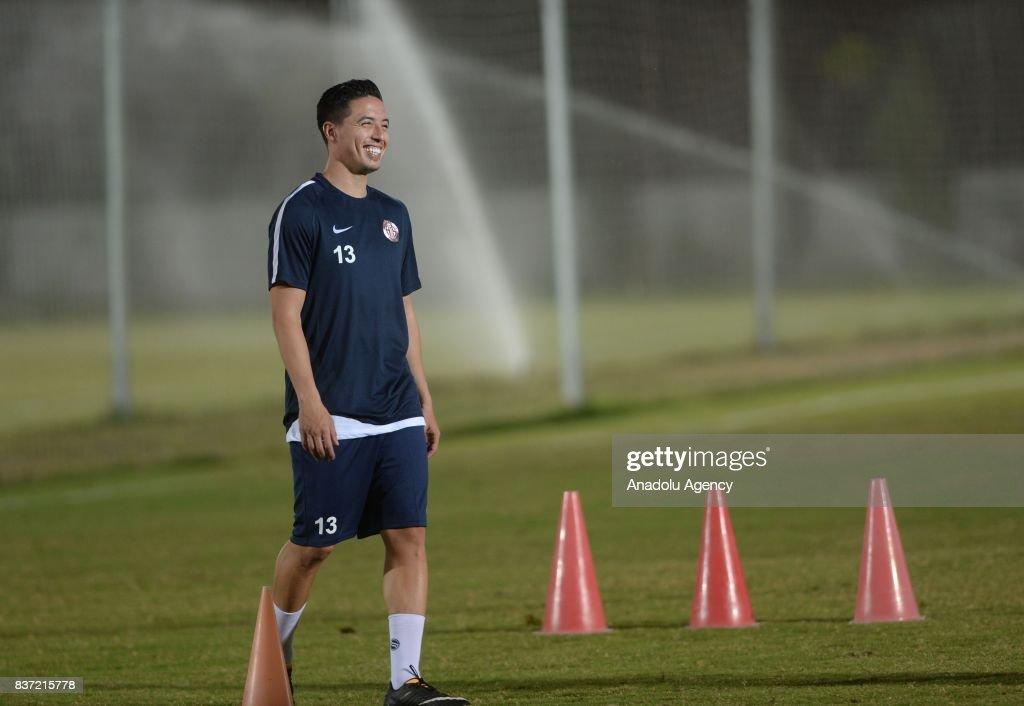 Samir Nasri's first training session with Antalyaspor : News Photo