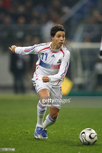 Samir Nasri of France during the International Friendly match between France and Morocco at the Stade de France on November 16th,2007.