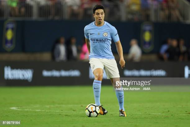 Samir Nasri of Manchester City during the International Champions Cup 2017 match between Manchester United and Manchester City at NRG Stadium on July...