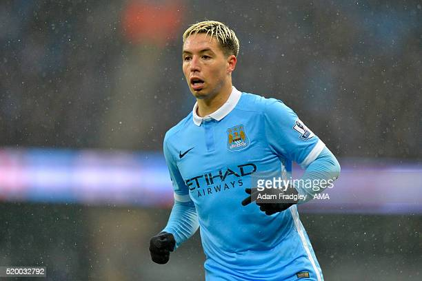 Samir Nasri of Manchester City in action during the Barclays Premier League match between Manchester City and West Bromwich Albion at Etihad Stadium...