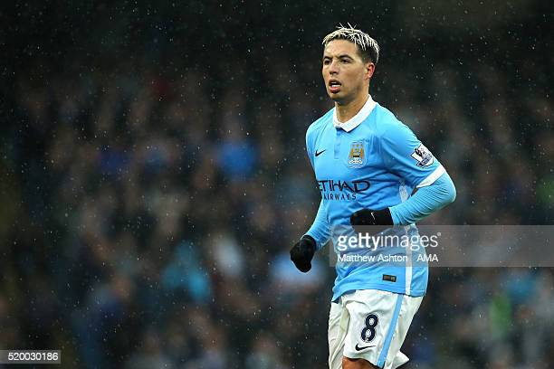 Samir Nasri of Manchester City looks on during the Barclays Premier League match between Manchester City and West Bromwich Albion at Etihad Stadium...