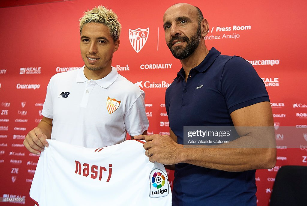 Sevilla FC Unveil New Signing Samir Nasri : News Photo