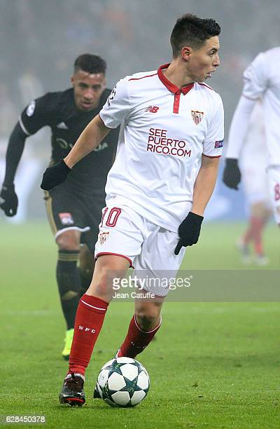 Samir Nasri of Sevilla FC in action during the UEFA Champions League match between Olympique Lyonnais and Sevilla FC at Parc OL on December 7 2016 in...