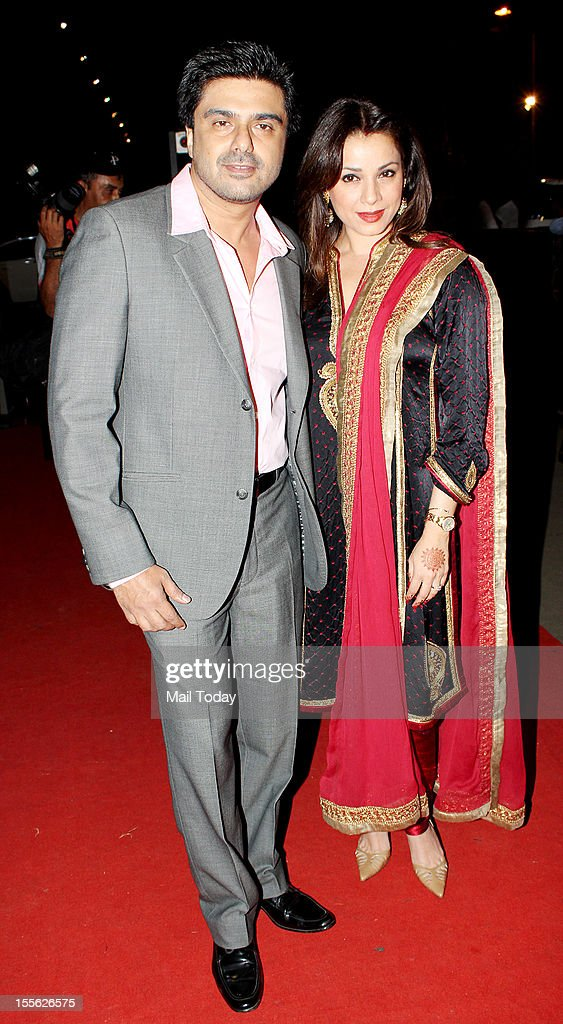 Samir Soni with wife Neelam during Indian Television Academy Awards 2012 (ITA Awards), held in Mumbai on November 4, 2012.