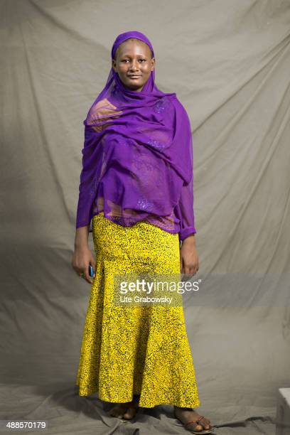 Samira Abdoulaye 18 years old from Niamey in Niger poses during SAFEM Salon international de l'artisanat pour la femme trade fair on December 07 2013...