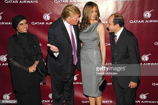 Samira Al Baker Donald Trump Melania Trump and Akbar Al Baker attend QATAR AIRWAYS Gala Event to Celebrate Inaugural Flights to NYC at Frederick P...