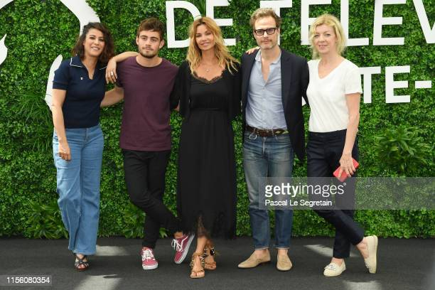 Samira Lachhab Clement Remiens Ingrid Chauvin Axel Kiener and Luce Mouchel from the serie Demain Nous Appartient attend the 59th Monte Carlo TV...