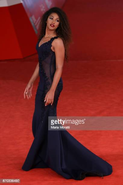 Samira Lui walks a red carpet for 'The Place' during the 12th Rome Film Fest at Auditorium Parco Della Musica on November 4 2017 in Rome Italy
