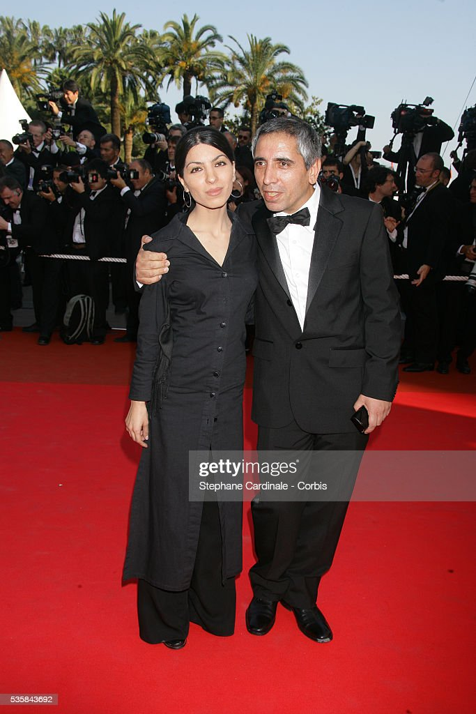 Samira Makhmalbaf and her father Mohsen Makhmalbaf arrive at the