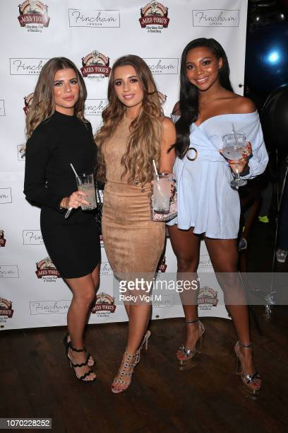 Samira Mighty and Dani Dyer during the launch of Jack Fincham's new pen range at Mrs Fogg's on November 20 2018 in London England