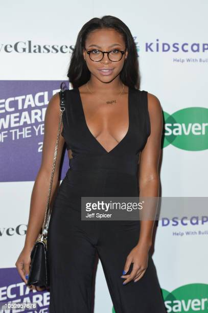 Samira Mighty attends the Specsavers 'Spectacle Wearer Of The Year' at 8 Northumberland Avenue on October 24 2018 in London United Kingdom