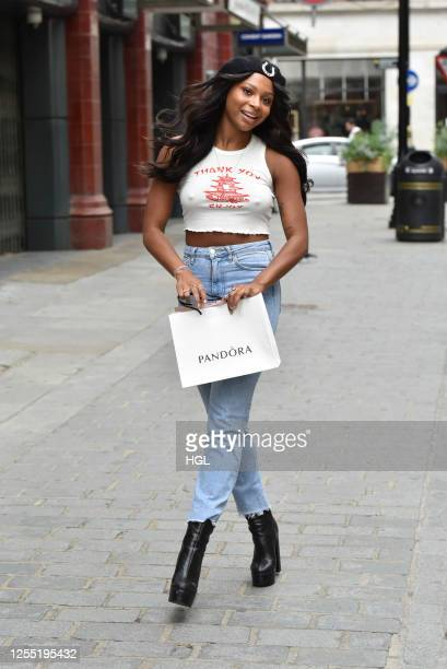 Samira Mighty seen shopping on July 09, 2020 in London, England.
