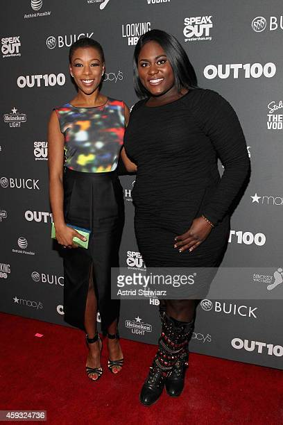 Samira Wiley and Danielle Brooks attend Out100 2014 presented by Buick on November 20 2014 in New York City
