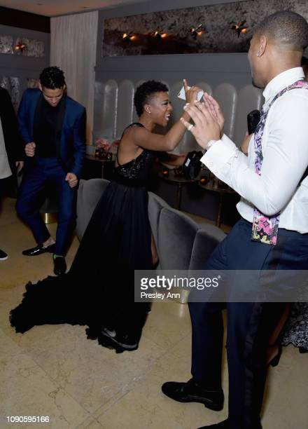 Samira Wiley and Michael B Jordan attend Netflix 2019 SAG Awards after party at Sunset Tower Hotel on January 27 2019 in West Hollywood California
