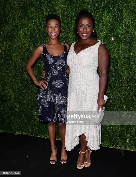 Samira Wiley and Uzo Aduba Attend Through Her Lens The Tribeca Chanel Women's Filmmaker Program Annual Luncheon at Locanda Verde on October 16 2018...