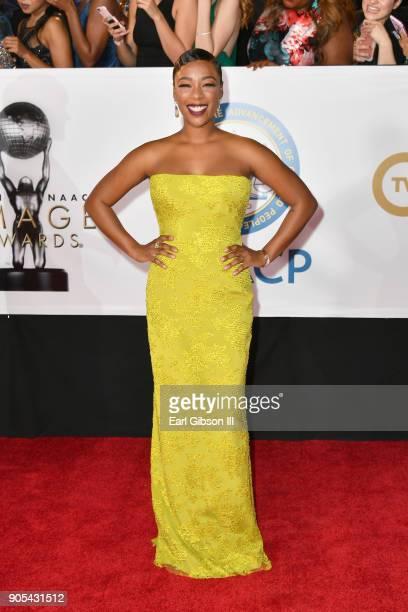 Samira Wiley at the 49th NAACP Image Awards on January 15 2018 in Pasadena California