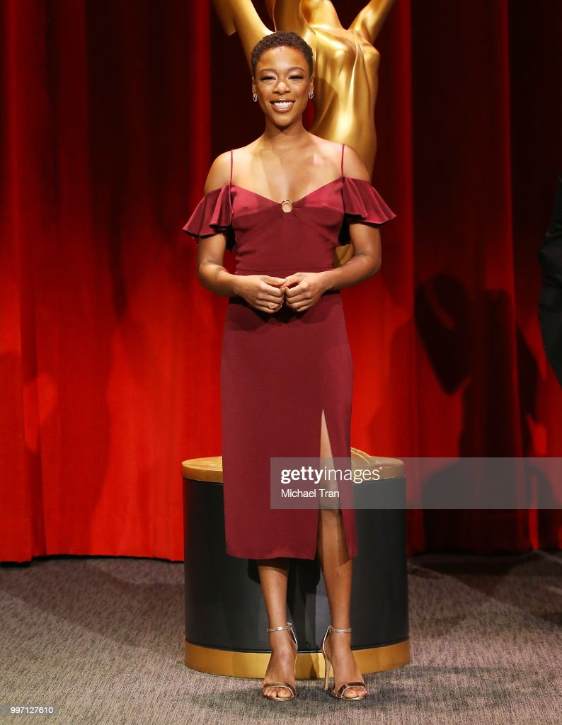 Samira Wiley attends onstage during the 70th Emmy Awards nominations announcement held at Saban Media Center on July 12, 2018 in North Hollywood, California.