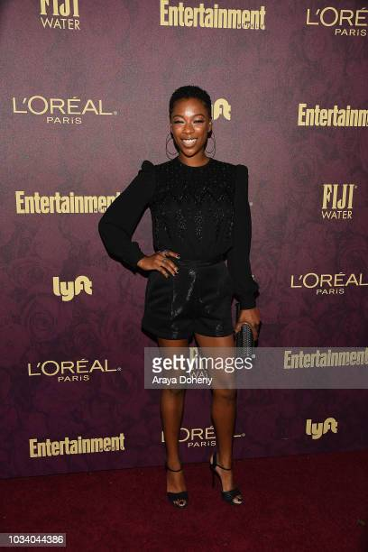 Samira Wiley attends the 2018 Pre-Emmy Party hosted by Entertainment Weekly and L'Oreal Paris at Sunset Tower Hotel on September 15, 2018 in West...
