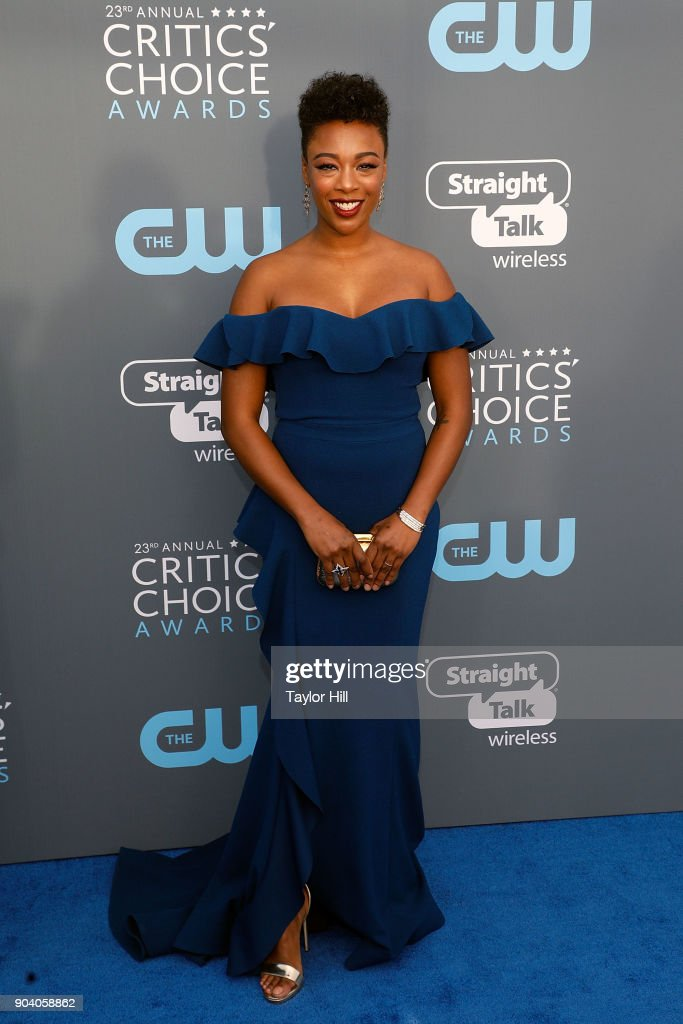 Samira Wiley attends the 23rd Annual Critics' Choice Awards at Barker Hangar on January 11, 2018 in Santa Monica, California.