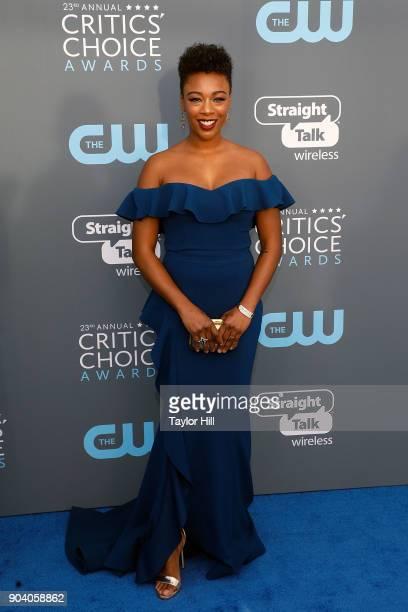 Samira Wiley attends the 23rd Annual Critics' Choice Awards at Barker Hangar on January 11 2018 in Santa Monica California