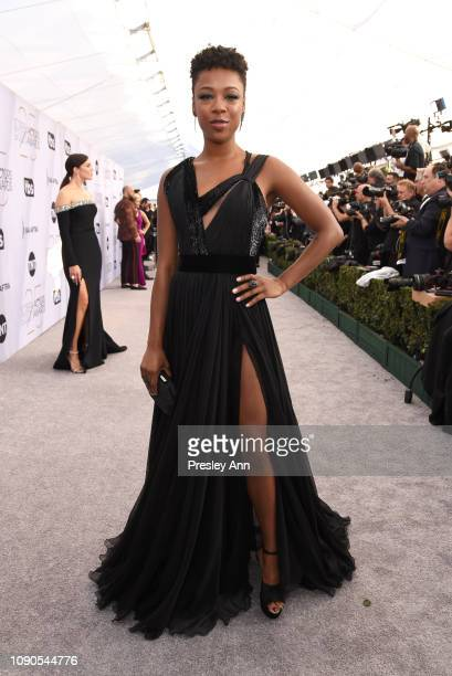 Samira Wiley attends the 25th Annual Screen ActorsGuild Awards at The Shrine Auditorium on January 27 2019 in Los Angeles California