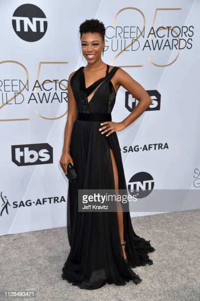 Samira Wiley attends the 25th Annual Screen Actors Guild Awards at The Shrine Auditorium on January 27 2019 in Los Angeles California