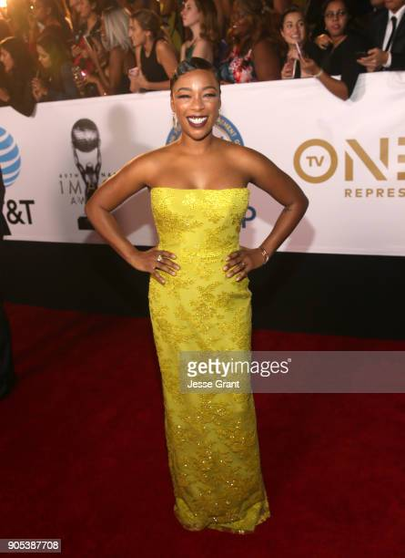 Samira Wiley attends the 49th NAACP Image Awards at Pasadena Civic Auditorium on January 15 2018 in Pasadena California