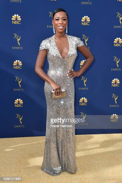 Samira Wiley attends the 70th Emmy Awards at Microsoft Theater on September 17 2018 in Los Angeles California