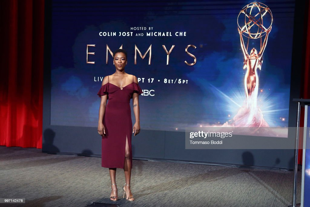 Samira Wiley attends the 70th Emmy Awards Nominations Announcement at Saban Media Center on July 12, 2018 in North Hollywood, California.