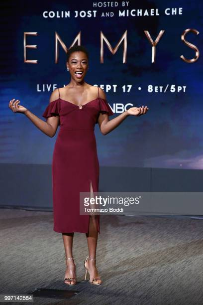 Samira Wiley attends the 70th Emmy Awards Nominations Announcement at Saban Media Center on July 12 2018 in North Hollywood California