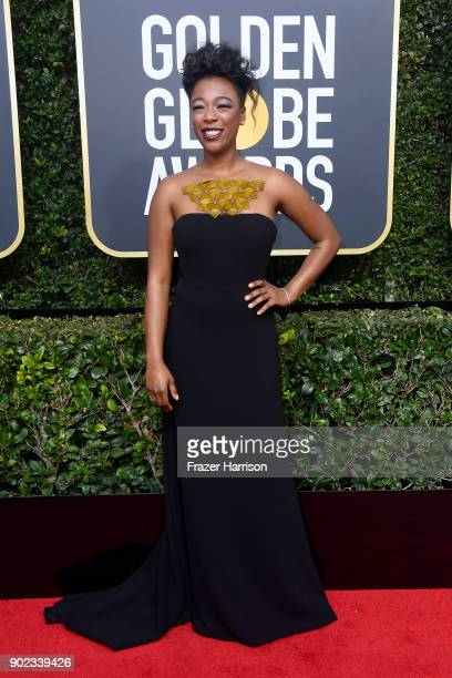 Samira Wiley attends The 75th Annual Golden Globe Awards at The Beverly Hilton Hotel on January 7 2018 in Beverly Hills California
