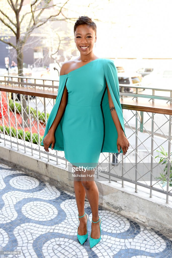 Samira Wiley attends the Hulu Upfront 2018 Brunch at La Sirena on May 2, 2018 in New York City.