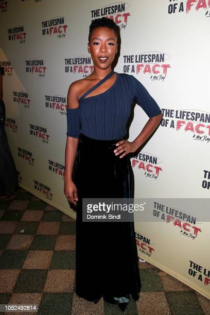 Samira Wiley attends 'The Lifespan of a Fact' opening night at Studio 54 on October 18 2018 in New York City