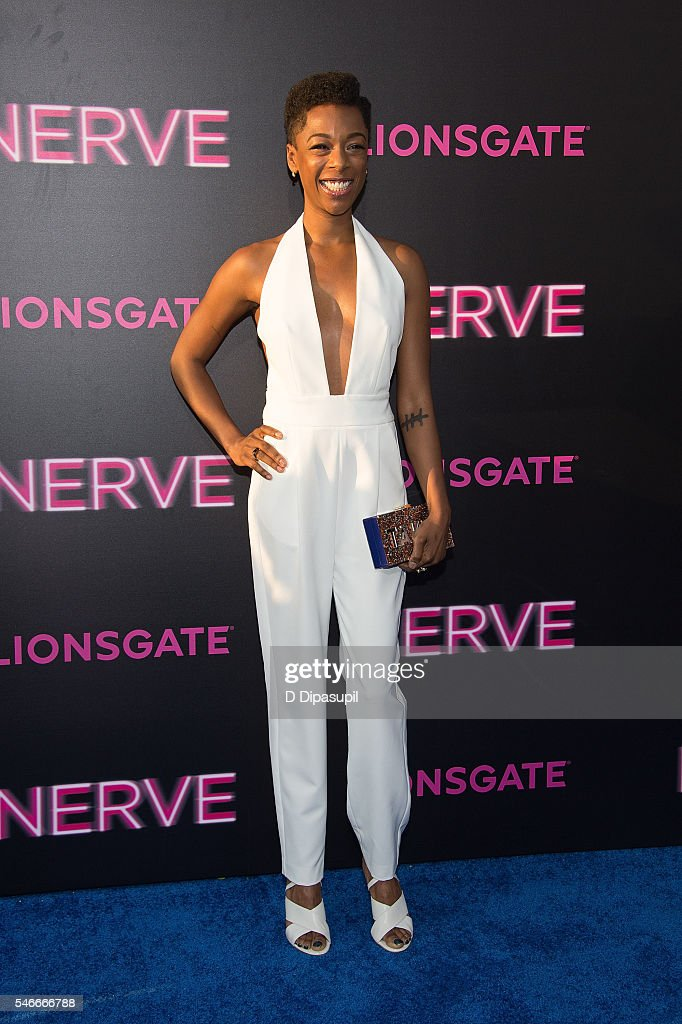 Samira Wiley attends the 'Nerve' New York premiere at SVA Theater on July 12, 2016 in New York City.